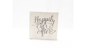 "Image of a ""Happily Ever After "" Sign - Whitewased/Square"