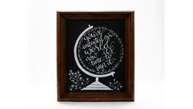 """Image of a """"You've Impacted our World..."""" Chalkboard Sign"""
