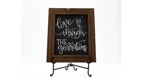 """Image of a """"Love Through the Generations"""" Chalkboard Sign"""