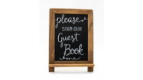 """Image of a """"Please Sign our Guestbook"""" Easel Sign"""
