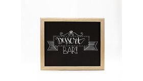 "Image of a ""Dessert Bar "" Chalkboard Sign/Gold Frame"