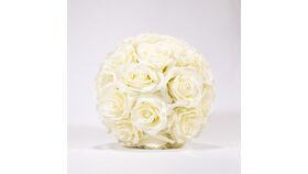 """Image of a 10"""" Rose Ball - Ivory"""