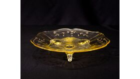 Image of a Antique Yellow Glass Tray