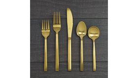 Image of a Arezzo Gold Salad Fork
