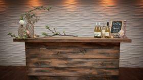 Image of a Rustic LED Farmwood Bar
