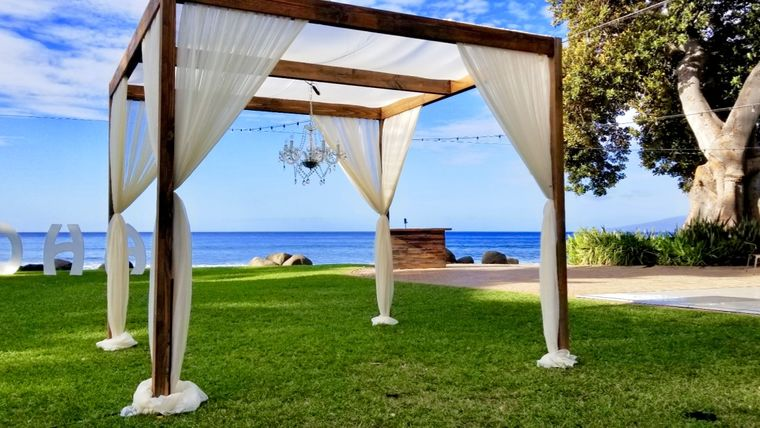 Picture of a 4 Post Sweetheart Dining Canopy 9x9