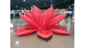 Image of a Air Sculpture - Red Lotus