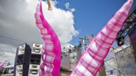 Image of a Air Sculpture - Pink Tentacles