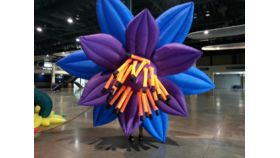 Image of a Air Sculpture - Blue/Purple/Orange Flower