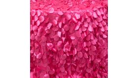 """Image of a Confetti (large) Round 132"""" Hot Pink Tablecloths"""
