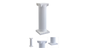 Image of a 4 Foot - White Wooden Decorative Column