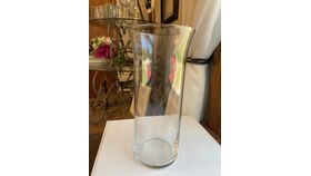 """Image of a Clear Glass Vase Flared Top 8"""""""