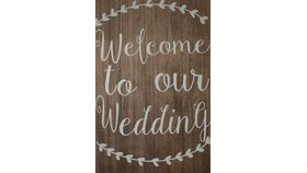 Image of a Signage - Wedding Welcome Sign