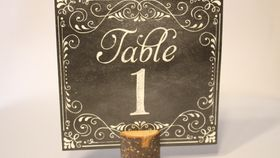 Image of a Signage - Table Number - Rustic/Wood