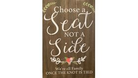 "Image of a Signage - ""Choose A Seat, Not a Side"" Decorative Sign"
