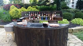 Image of a Rustic Bar Front & Back Bar