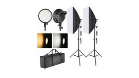 Image of a LED Softbox Lighting Kit w/Stands