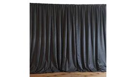 "Image of a Black 90"" x 156"" Pipe/Drape"