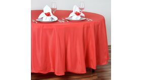 """Image of a Coral 108"""" Round Tablecloths"""
