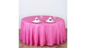 """Image of a Fuscia 108"""" Round Tablecloths"""