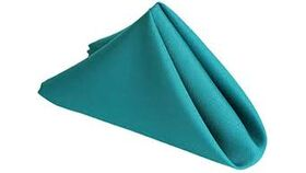 """Image of a Turquoise 17"""" Linen  Napkins"""