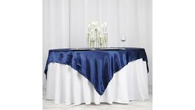 Image of a Navy Blue Satin Overlays