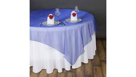 Image of a Royal Blue Organza Overlays