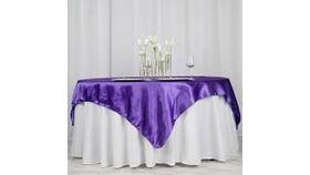 Image of a Royal Purple Satin Overlays