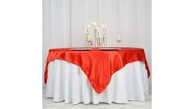 Image of a Red Satin Overlays