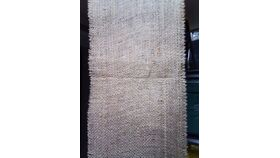 "Image of a Burlap 108"" Frayed Edging Runners"