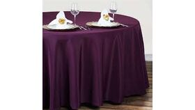"Image of a Eggplant 90"" Silk Tablecloths"