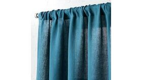 "Image of a Teal Linen 48"" x 84"" Curtains"