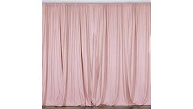 Image of a Blush 6'W x 8'H Curtains