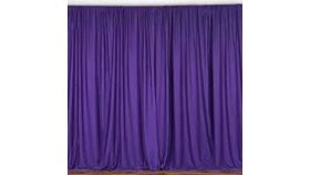"Image of a Purple Matte Satin 48"" x 84"" Curtains"