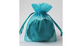 Image of a Teal Organza Gift Bags