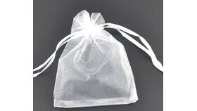 Image of a White Organza Gift Bags