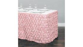 "Image of a Light Pink Satin Rosette 19' L x 30"" H"