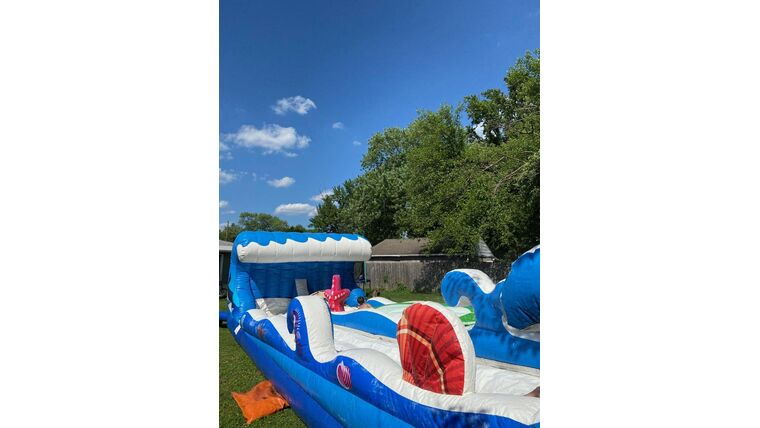 """Picture of a 40' Flat Dual Slip """"n"""" Slide"""