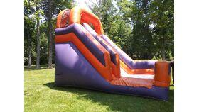 Image of a 18' Purple & Orange Slide
