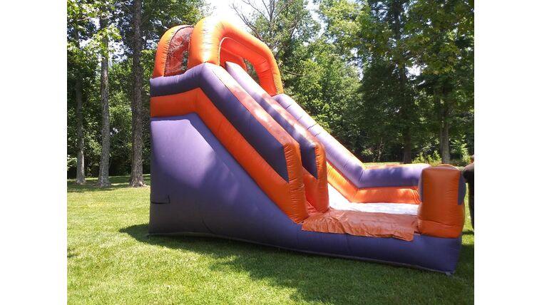 Picture of a 18' Purple & Orange Slide