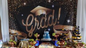 Image of a Graduation Backdrop