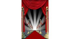 Image of a Red Carpet Backdrop 10ft x 7ft OR 10ft x 10ft