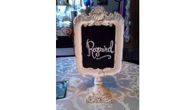 "Image of a Ivory Decorative 10"" ""Reserved"" Table Sign"