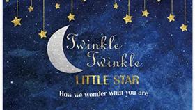 Image of a Twinkle Twinkle Little Star Glitter 5ft x 7ft