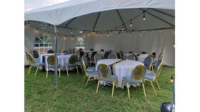 Image of a 20 x 20 High Peak Framed Tents with Cathedral Windows