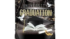 Image of a College Graduate Vinyl Backdrop