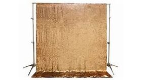 Image of a Gold Sequin Backdrop 5'W x 7'H
