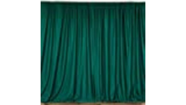 Picture of a 10' x 10' Cloth Hunter Green Backdrop