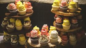 Image of a Wood Pedestal Cake or Cupcake Displays