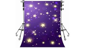 "Image of a Purple ""Starry Night"" Vinyl Bacdrop"